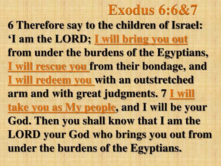 Exodus 6:6&7