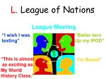 l league of nations