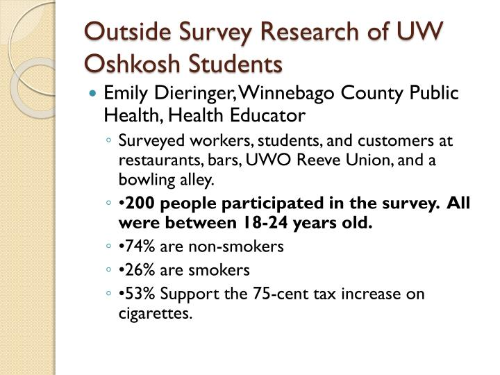 Outside Survey Research of UW Oshkosh Students