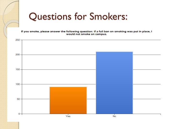 Questions for Smokers: