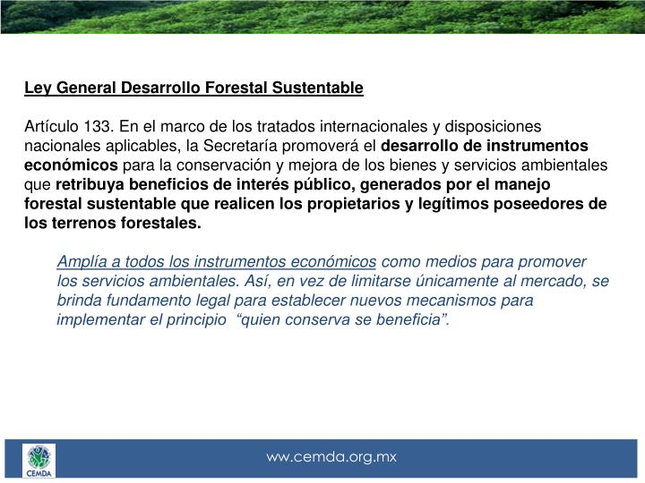 Ley General Desarrollo Forestal Sustentable