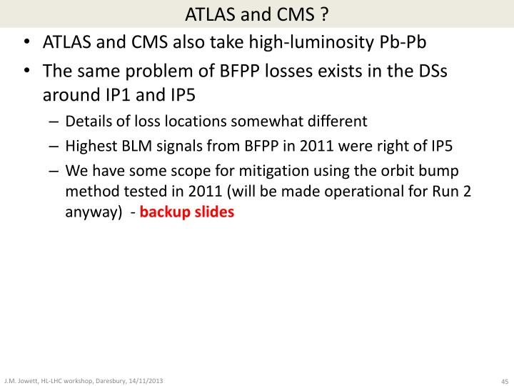 ATLAS and CMS ?