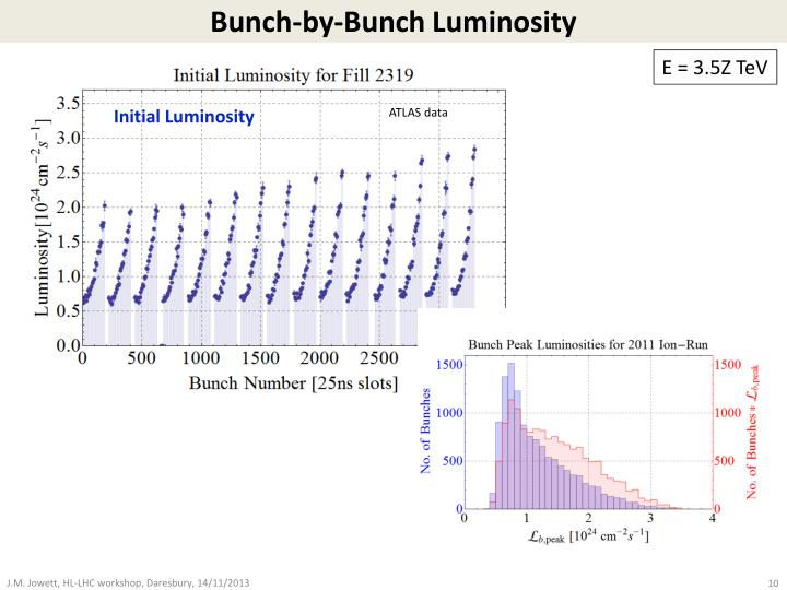 Bunch-by-Bunch Luminosity