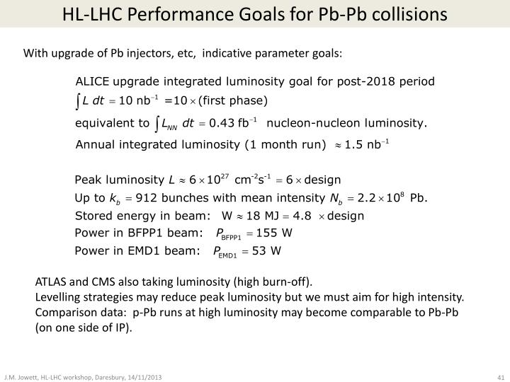HL-LHC Performance Goals for Pb-Pb collisions