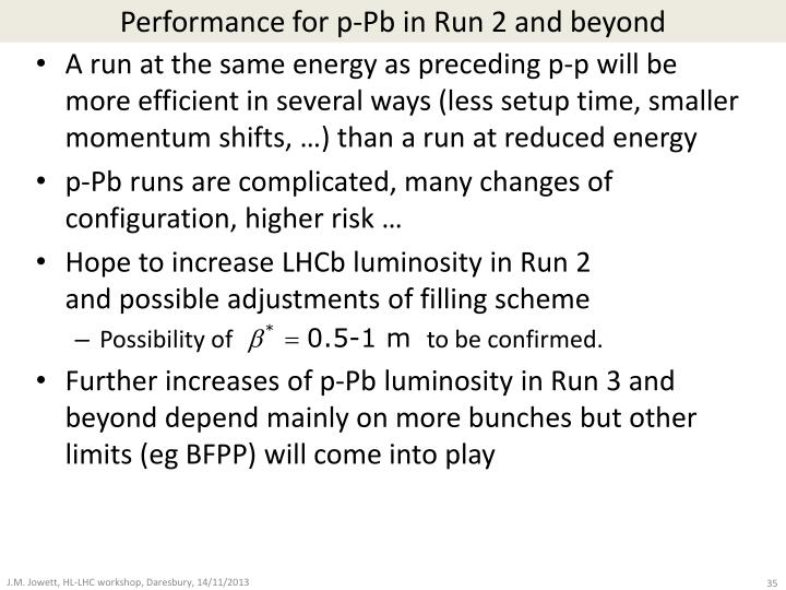 Performance for p-