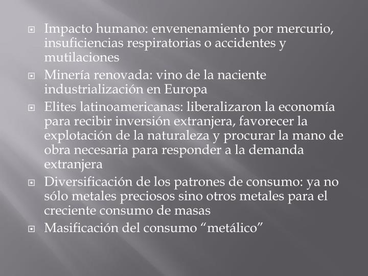 Impacto humano:
