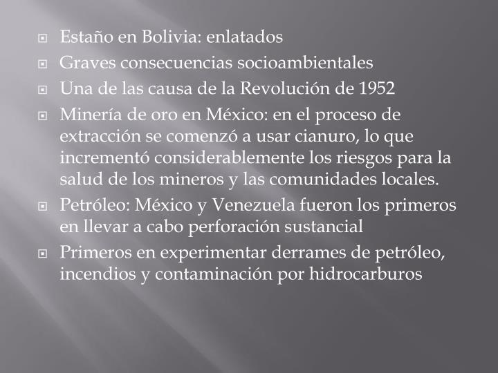 Estaño en Bolivia: enlatados