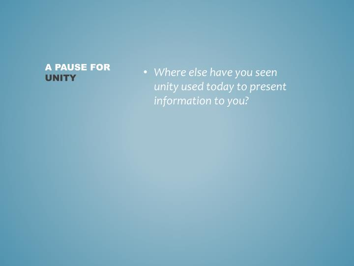 A PAUSE FOR