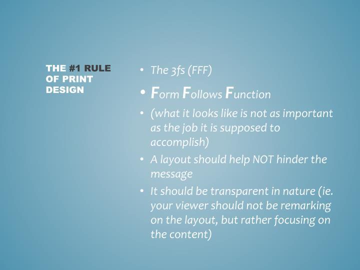 The 3fs (FFF)