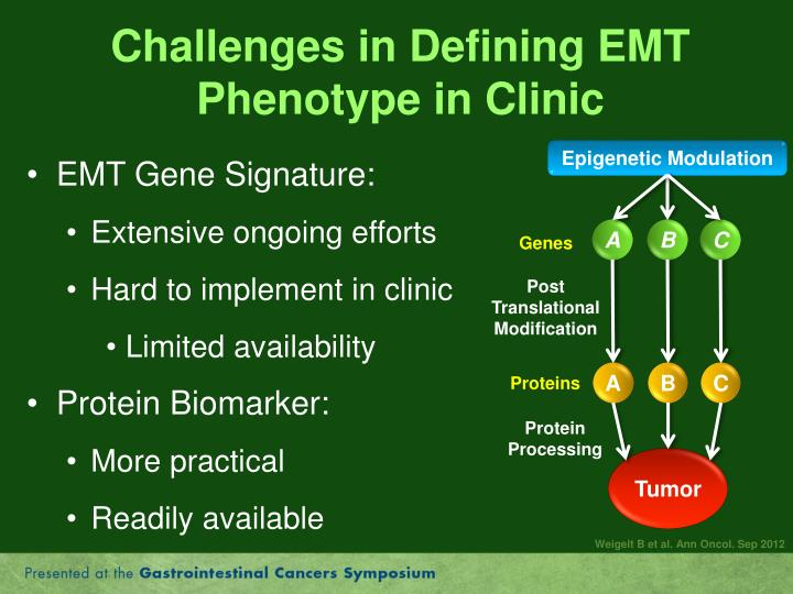 Challenges in Defining EMT Phenotype in Clinic