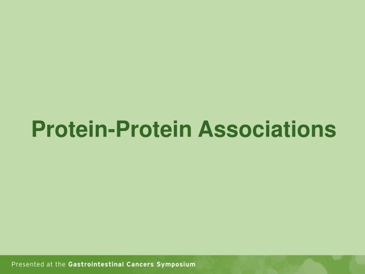Protein-Protein Associations