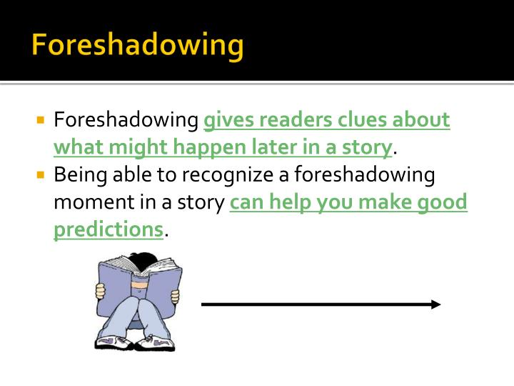 foreshadowing and flashback Flashback and foreshadowing-use mentor text for reading and writing workshop find this pin and more on schoolforeshadowing by k0101137 step 1 - sign in or.