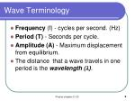 wave terminology