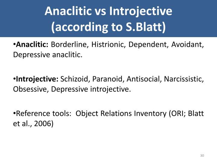 Anaclitic