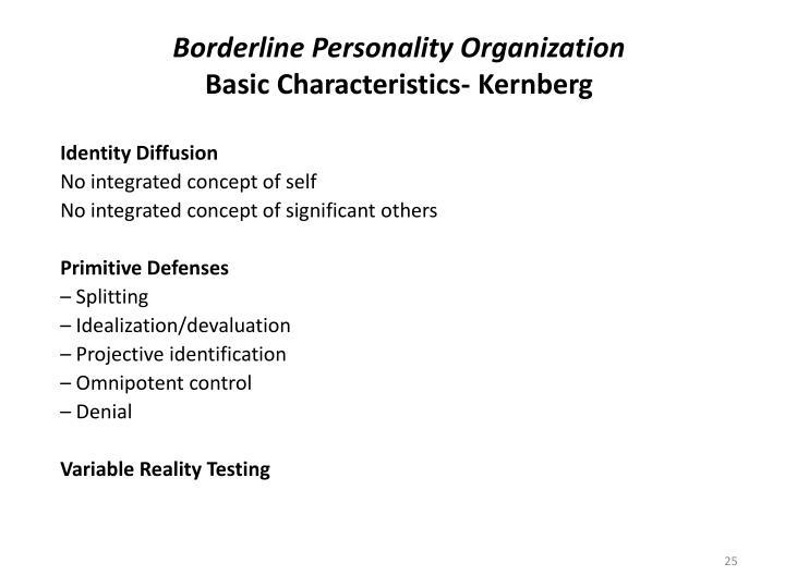 Borderline Personality Organization