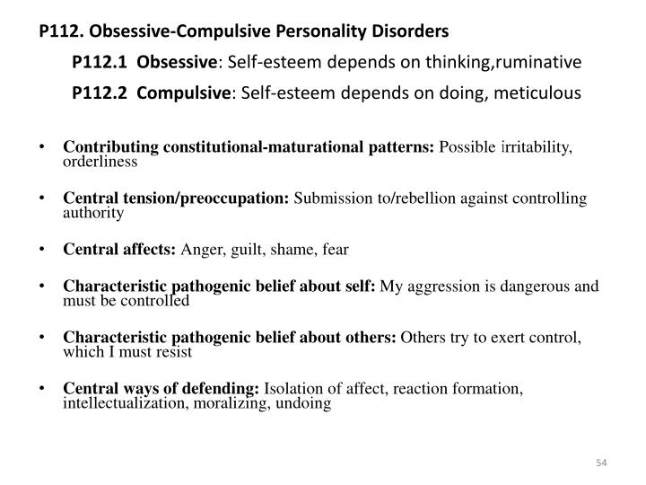 P112. Obsessive-Compulsive Personality Disorders