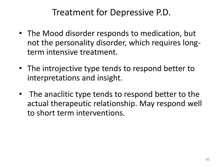 Treatment for Depressive P.D.