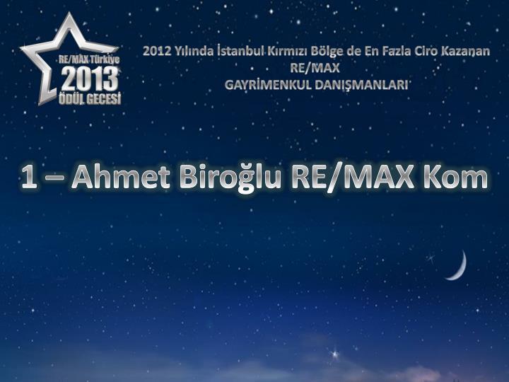 2012 Yılında İstanbul Kırmızı Bölge de En Fazla Ciro Kazanan