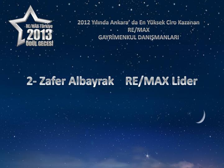 2012 Yılında Ankara' da En Yüksek Ciro Kazanan