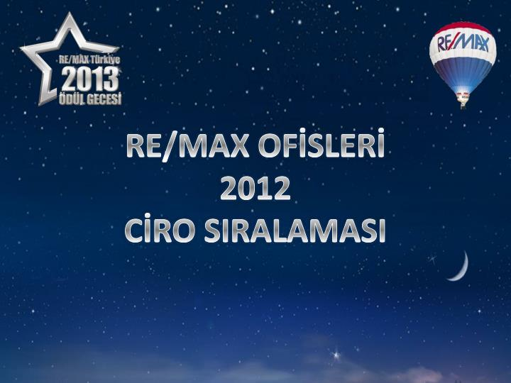 RE/MAX OFİSLERİ
