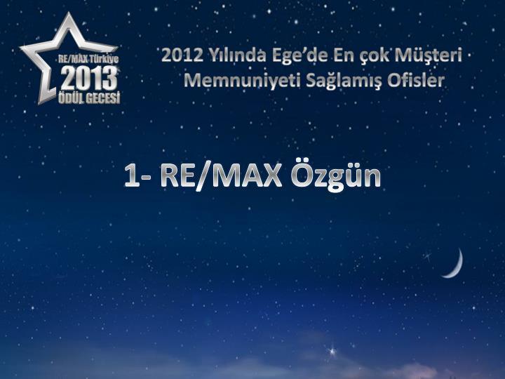 2012 Yılında Ege'de En çok Müşteri