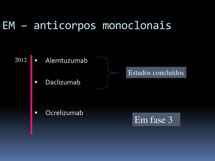 EM – anticorpos monoclonais