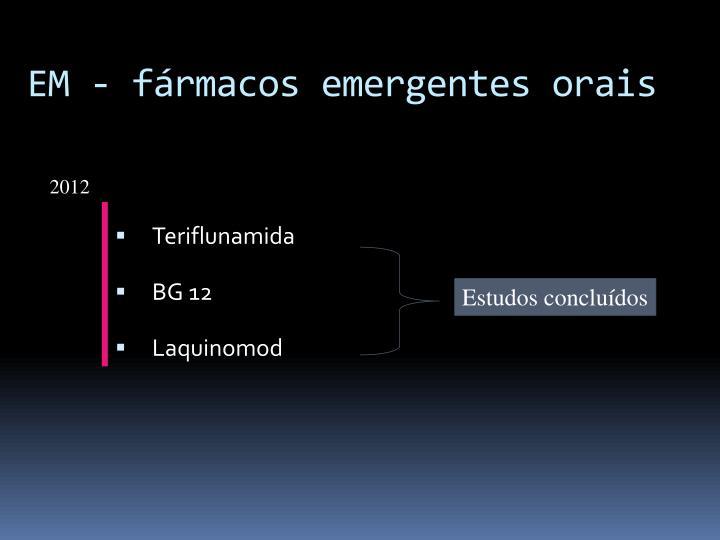 EM - fármacos emergentes orais