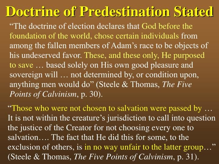 Doctrine of predestination stated