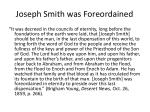 joseph smith was foreordained
