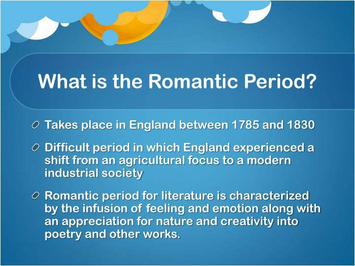 essay of romantic period