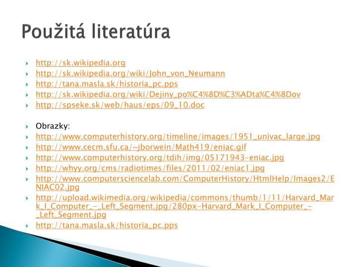 Použitá literatúra