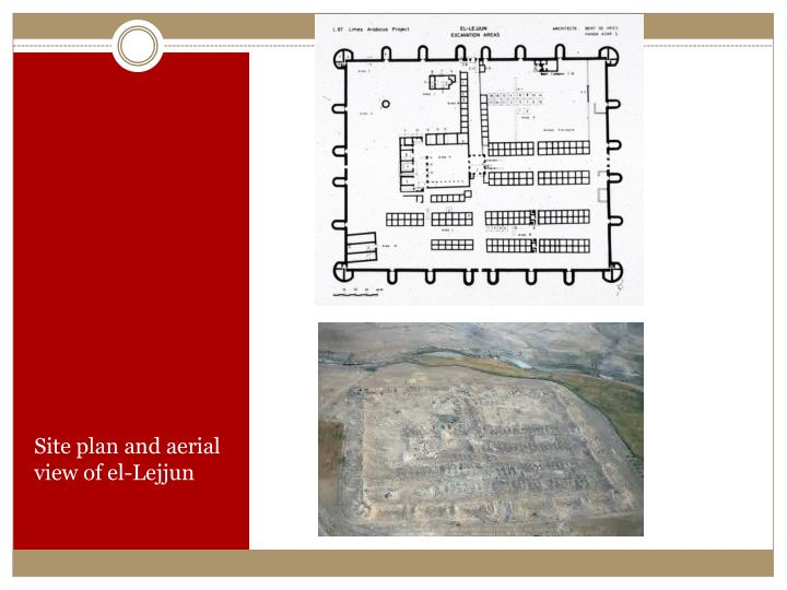 Site plan and aerial view of el-