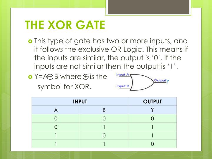 THE XOR GATE