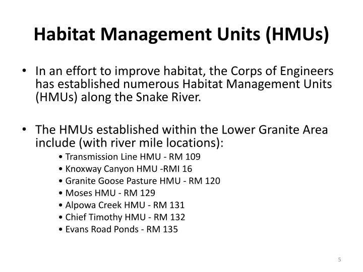 Habitat Management Units (HMUs)