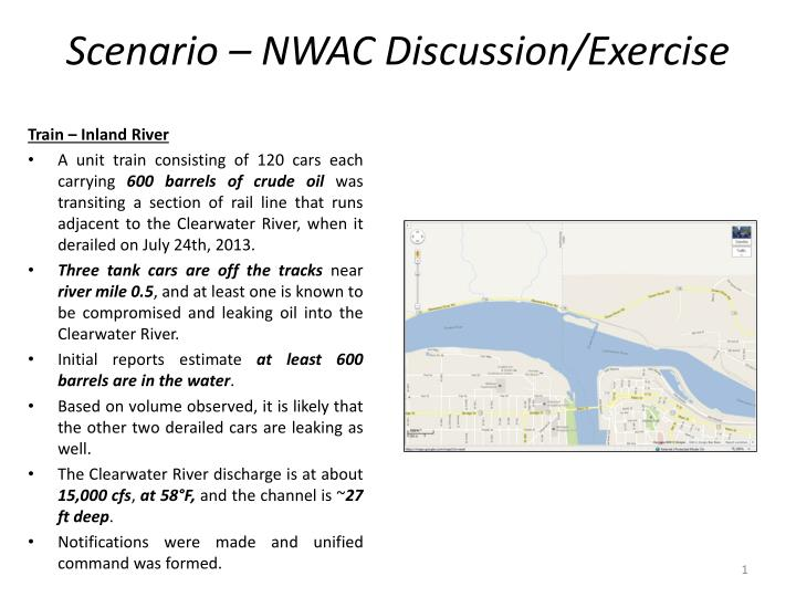 Scenario – NWAC Discussion/Exercise