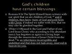 god s children have certain blessings