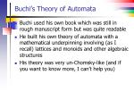 buchi s theory of automata