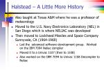 halstead a little more history