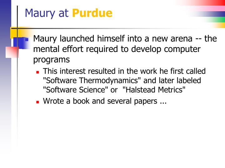 Maury at