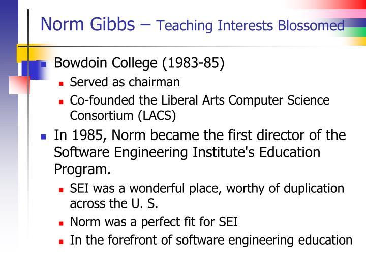 Norm Gibbs –