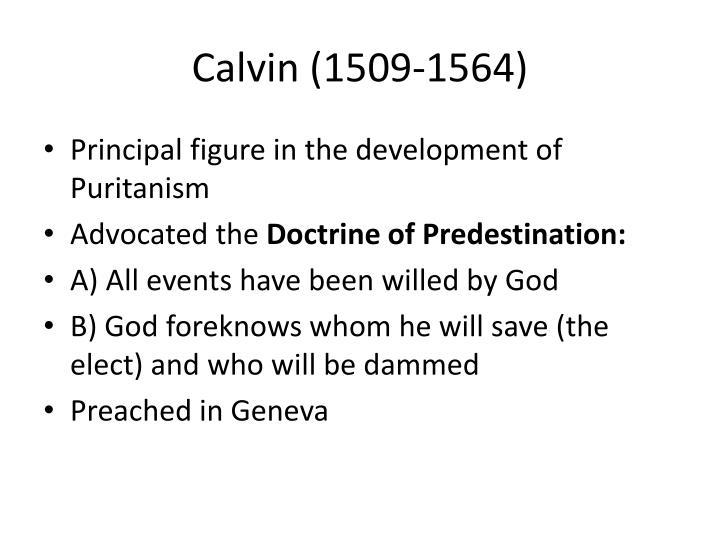 Calvin (1509-1564)