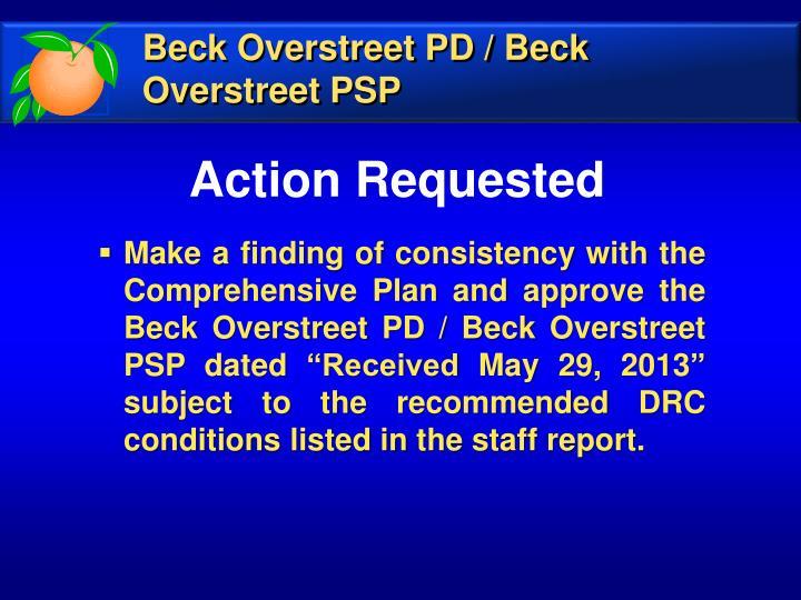 Beck Overstreet PD / Beck Overstreet PSP