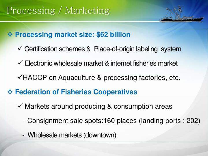 Processing / Marketing