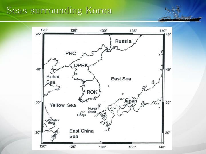 Seas surrounding Korea