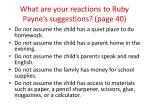 what are your reactions to ruby payne s suggestions page 40