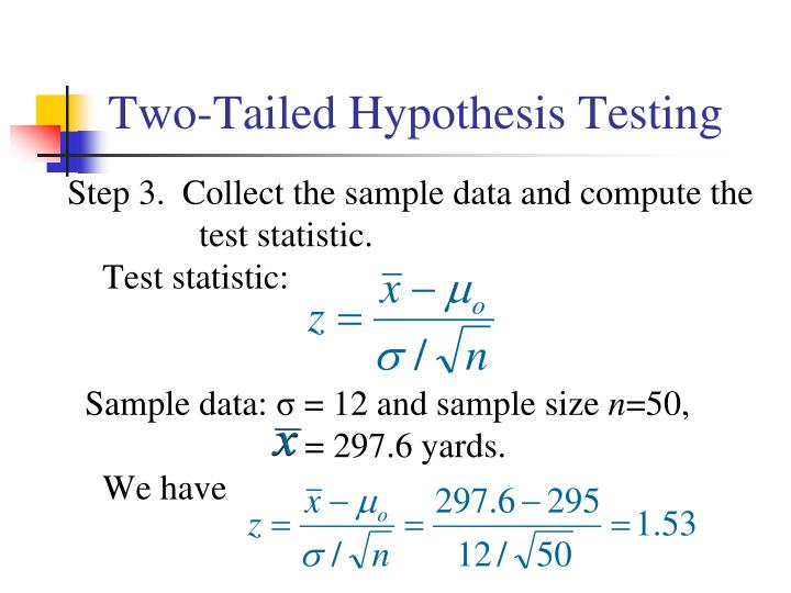 Two-Tailed Hypothesis Testing