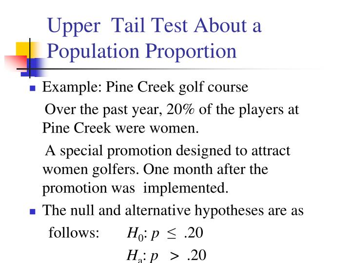 Upper  Tail Test About a