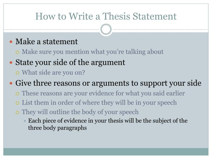 How to write a thesis introduction essay