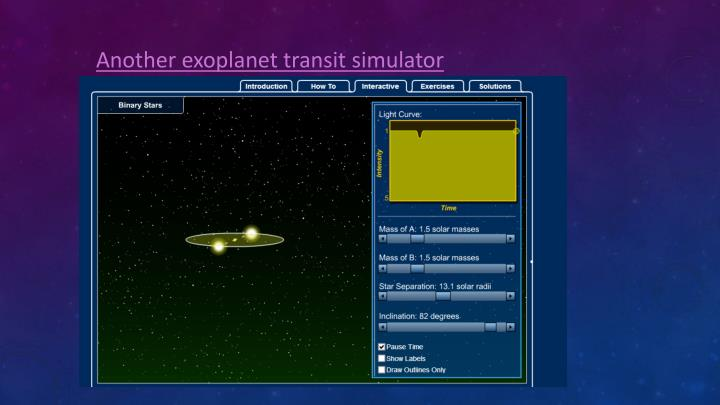 Another exoplanet transit simulator