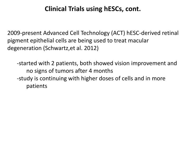 Clinical Trials using